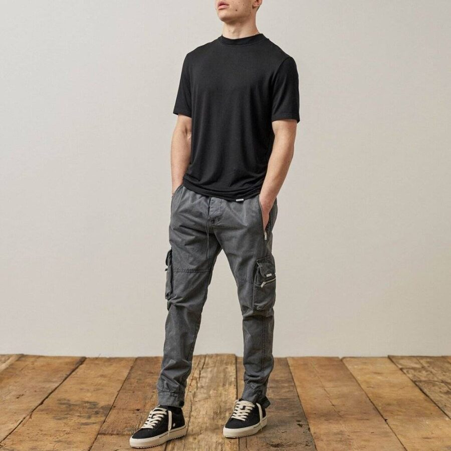 Represent Military Cargo Pants 'Grey'