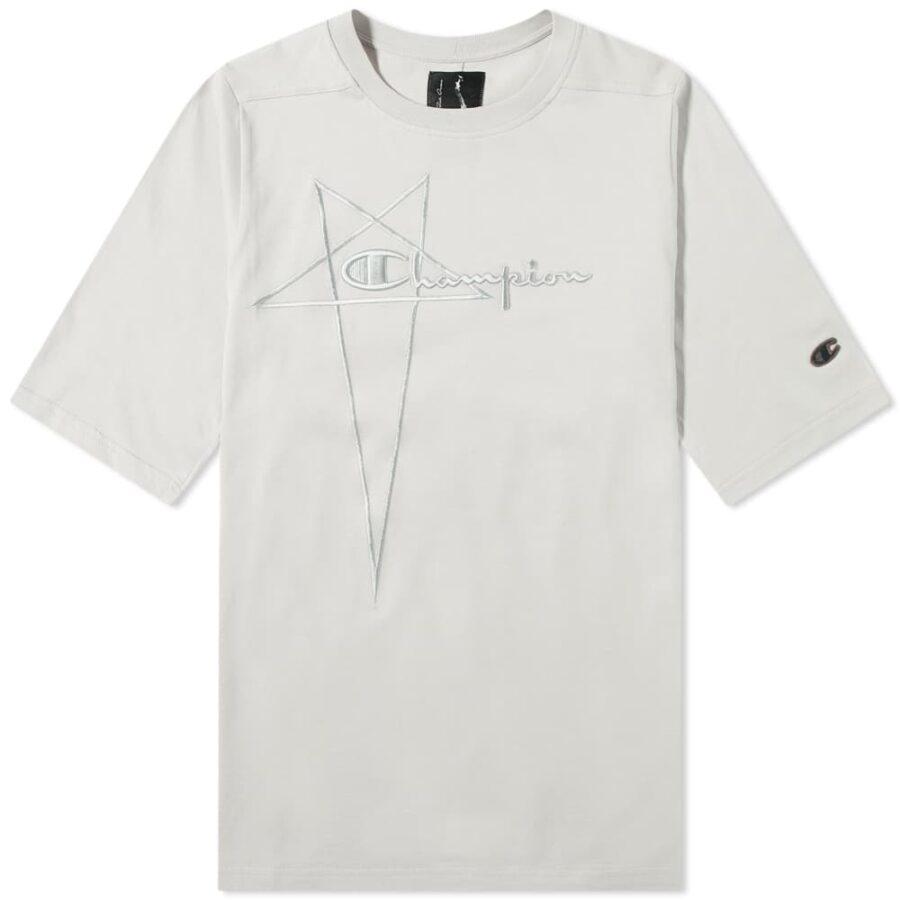 Rick Owens x Champion Jumbo Jersey T-Shirt 'Oyster'