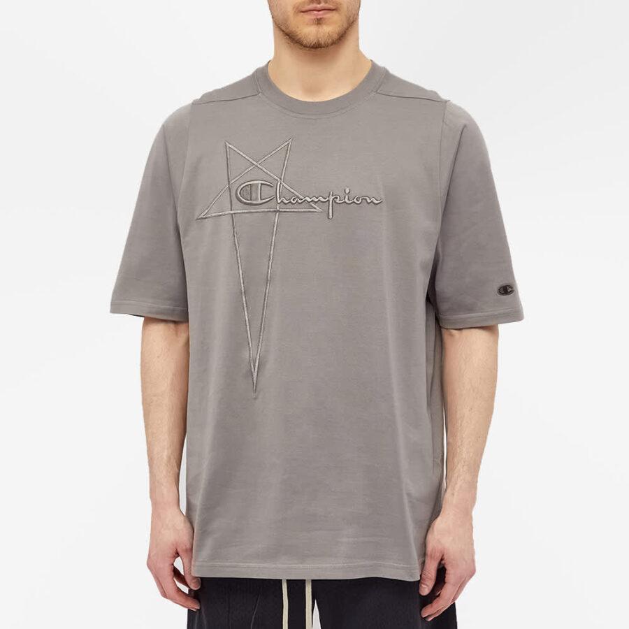 Rick Owens x Champion Jumbo Jersey T-Shirt 'Dust'