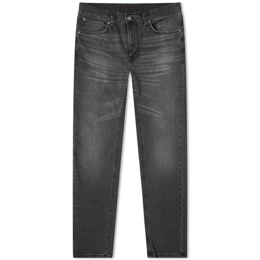 Nudie Lean Dean Jeans 'Mono Grey'