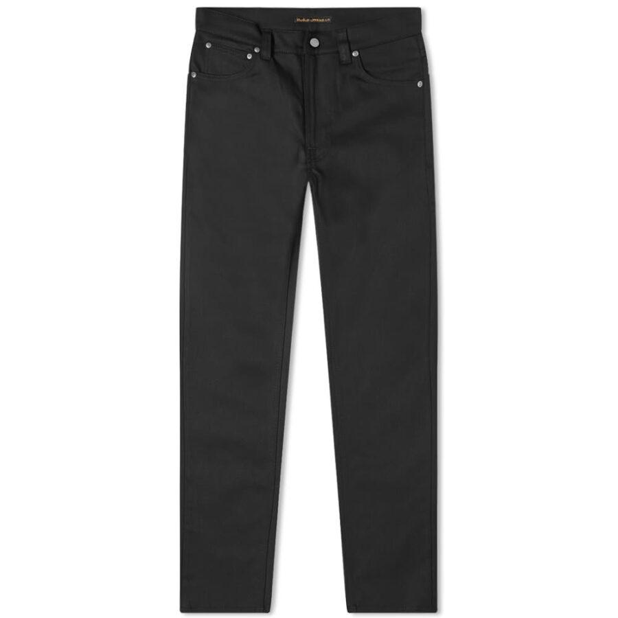 Nudie Lean Dean Jeans 'Dry Cold Black'