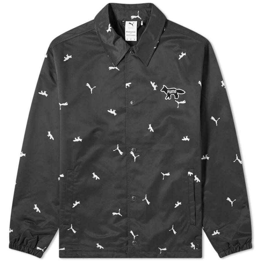 PUMA x Maison Kitsuné AOP Coach Jacket 'Black'